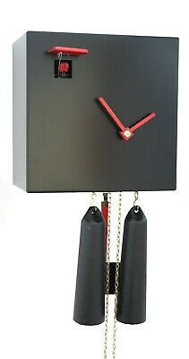 Modern cuckoo clock Black Cube, 8 day RH CU34-2 NEW