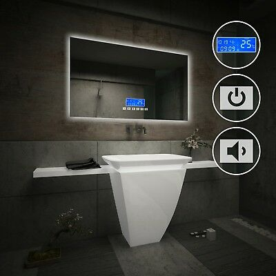LED Illuminated Bathroom Mirror | LCD Panel with Switch & Bluetooth Speaker L58