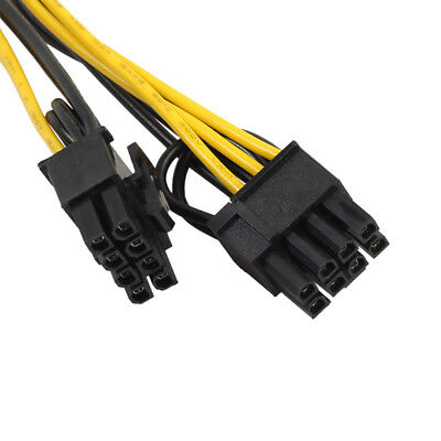 6-pin Female to 2x 6+2-pin 6-pin 8-pin Power Splitter Cable PCIE PCI Express HN1