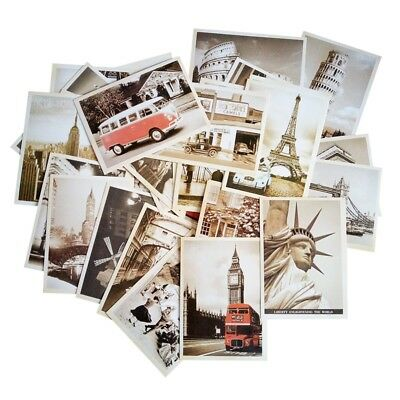 Retro Vintage Famous City France Italy England USA Postcard Set of 32 cards