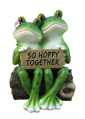 "Happy Frog Couple ""So Hoppy Together"" Fun Decor Figurine Valentine Romantic"