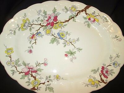 """Booths Chinese Tree  Serving Platter  12 1/2"""" X 9 3/4""""  1920/1939"""