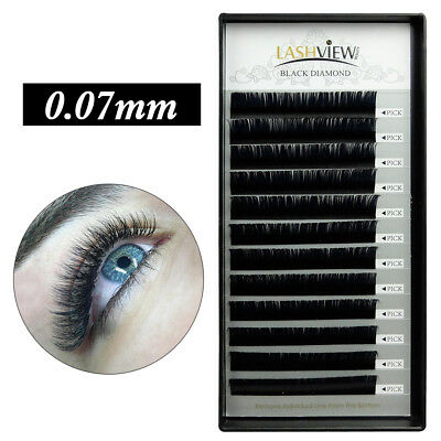 LashView 0.07mm 3D 6D Russische Volum Wimpernverlängerung Silk Wimpern Extension