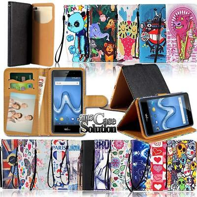 Leather Wallet Card Stand Magnetic Flip Case Cover For Various Wiko Phones