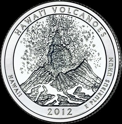 "2012 S Volcanoes National Park Quarter Hawaii ""Brilliant Uncirculated"" ATB"