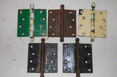 "Antique Door Hinge 4"" x 4 ""  5 pcs."
