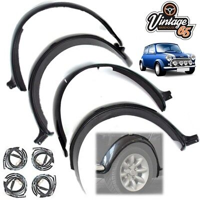 Classic Mini Cooper Mayfair City Wheel Arch Kit Sportspack Wide Arches Black