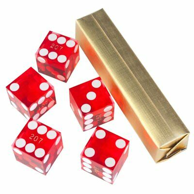 19mm AAA Grade Serialized Casino Craps Dice(Set of 5) - Red. New! Free Shipping!
