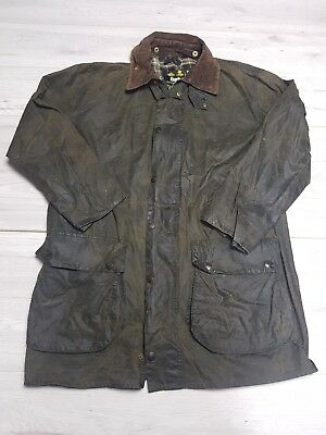 Mens Barbour A200 Border Wax Jacket Green Size C40/102cm  #G93