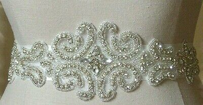 Bridal Sash With Crystals, Rhinestones, Beading For Wedding, Bride, Bridesmaid