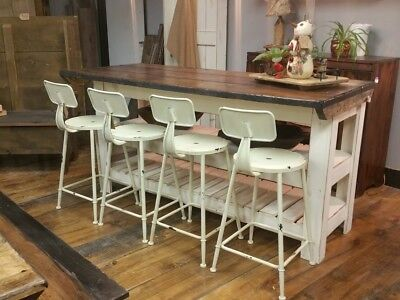 5u0027 Rustic Farmhouse Kitchen Island Reclaimed Barnboard Finish Breakfast Bar
