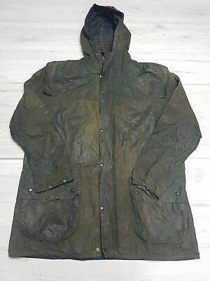Mens Barbour A5 Lined Durham Sylkoil Wax Jacket Green Size C38/97cm     #G96