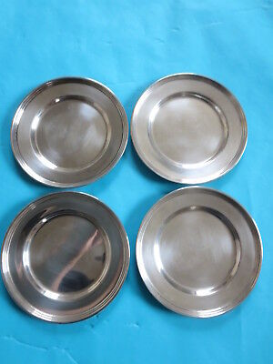 "VINTAGE LOT of 4 5"" STERLING SILVER 5"" BREAD PLATES 127G Total"
