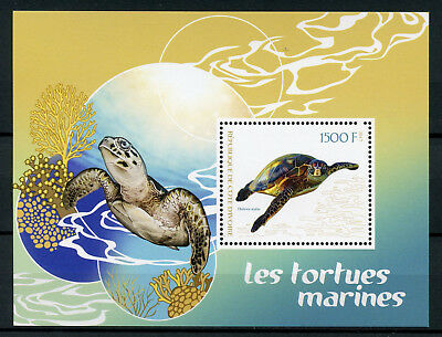 Ivory Coast 2017 MNH Sea Turtles 1v S/S Tortues Marine Reptiles Stamps