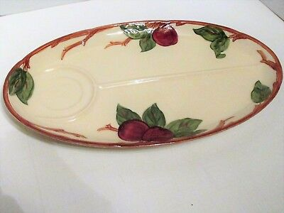 Vintage Franciscan Ware APPLE Pattern  Divided Oval SNACK TRAY
