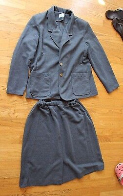 Vintage Cape Cod Match Mates Gray suit Skirt late 60's early 70's size 14