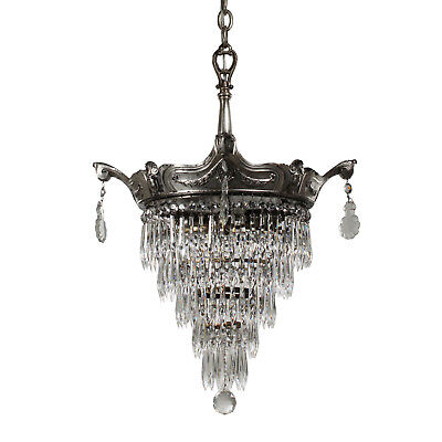 Antique Neoclassical Wedding Cake Chandelier, Early 1900s, NC2965