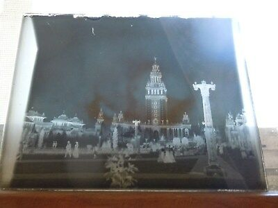 RARE 1901 Pan American Exposition 13 UNSEEN GLASS DRY PLATE SLIDES estate find