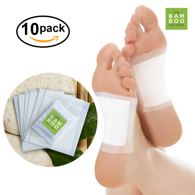 Bamboo Detox Foot Patches Pads Pain Stress Relief Weight Loss Relax Health Care