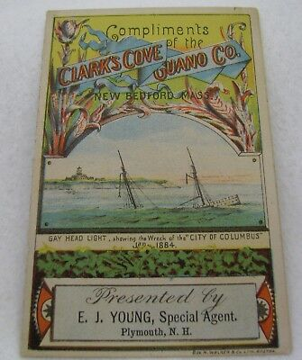 Antique Clark's Cove Guano Co Plymouth Nh Advertising Trade Card Booklet