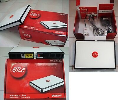 Modem Alice Gate 2 Plus no WiFi, Ethernet / USB, by Pirelli