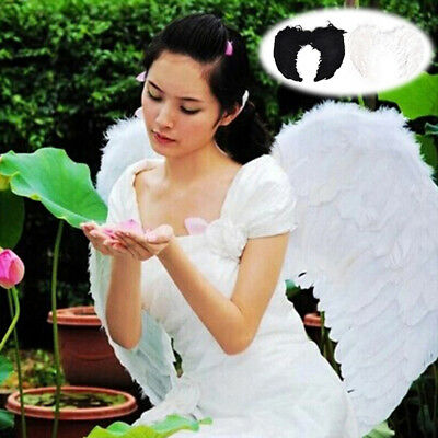 1ea85656c973 4 Sizes Feather Fairy Angel Sexy Wings Girl Night Fancy Dress Swan Costume  Party