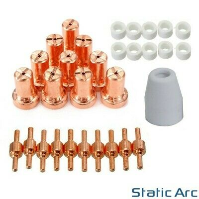 31pcs PT31 PLASMA CUTTER CONSUMABLES KIT CUTTING TORCH TIP ELECTRODES CUP RING