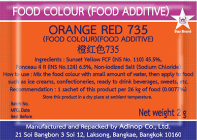 FOOD COLOUR ( Food Additive ) Safe For Food , Red Food Coloring From ...