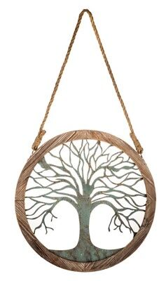 Round Wood And Metal Tree Wall Decor