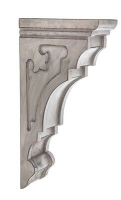 LARGE RUSTIC CORBELS / BRACKETS Gray Grey Tuscan Style Set Of 2 Corbels