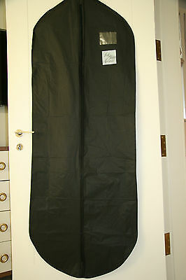 "Saks Fifth Avenue Garment Bag Dress Suit Bag Black Vinyl 54 X 23 1/2"" NWOT"