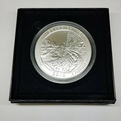 2010 Grand Canyon-America The Beautiful Five Ounce Silver Uncirculated Coin