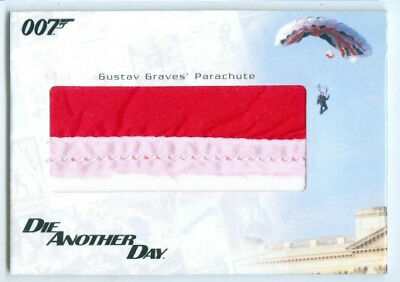 """""""Gustav Graves 3 Color Parachute Prop/Relic Card #Rc22"""" James Bond In Motion"""
