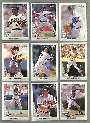 AWESOME lot of 500+ 1990 LEAF  baseball cards with STARS and HALL of FAMERS!
