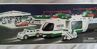 Hess* 2001* Toy* Helicopter* With* Motorcycle* And Cruiser Mib*