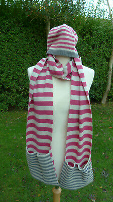 Seasalt lambswool mix scarf and hat set    (C22)