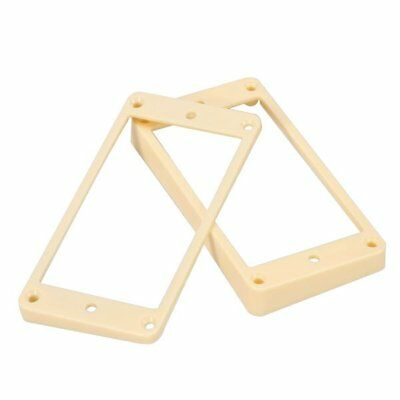 Cream Pickup Mounting Rings (Curved bottom for arched top) Neck and Bridge