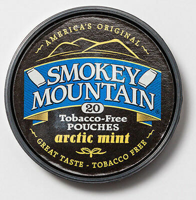 Smokey Mountain Herbal Snuff-Arctic Mint Pouches 6 Cans-Tobacco & Nicotine Free
