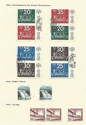 Sweden 1974 x4 sets very fine cds used, with 3-sided pairs.