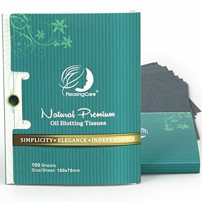 Natural Bamboo Charcoal Oil Absorbing Tissues - 200 Counts Total in 2 Pack, Larg