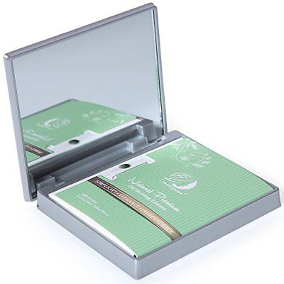 Makeup Mirror with Facial Oil Blotting Paper Sheets – Green Tea 100 Counts