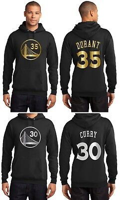 new arrivals 7d375 c2897 NEW GOLDEN STATE Warriors Steph Curry or Kevin Durant Black Hoodie Gold /  Silver