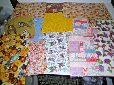 Vintage 1970s|1980's Gift Wrap Paper Assorted Occasions | all unused as shown #1