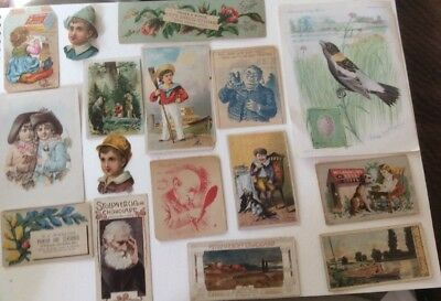 1880s Victorian Trade Cards - Lot of 16, Some Trimmed