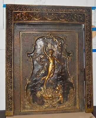 """Beautiful Antique Fireplace Surround & Cover, 30.5"""" high x 24.5"""" wide"""