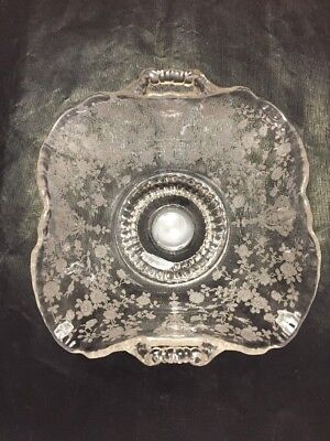 Rose Point Footed Type Bowl  By Cambridge Glass Company