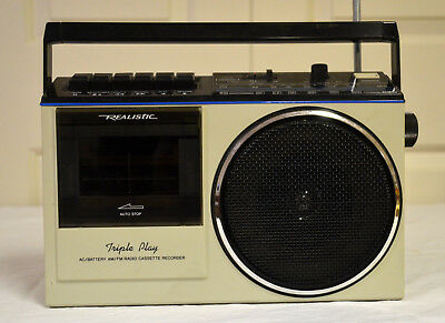 Realistic CRT-78 AC/Battery AM/FM Radio--Cassette Recorder