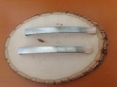 585 VTG  Large MidCentury  Handles In A Stainless Steel. Set Of 2
