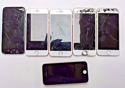 Lot of 6 iPhone 6-6s-SE As-is - FOR PARTS ONLY |Salvage| SEE DETAILS