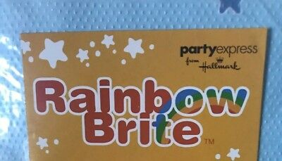 Vintage Rainbow Brite Happy Birthday Party Banner And Blowouts